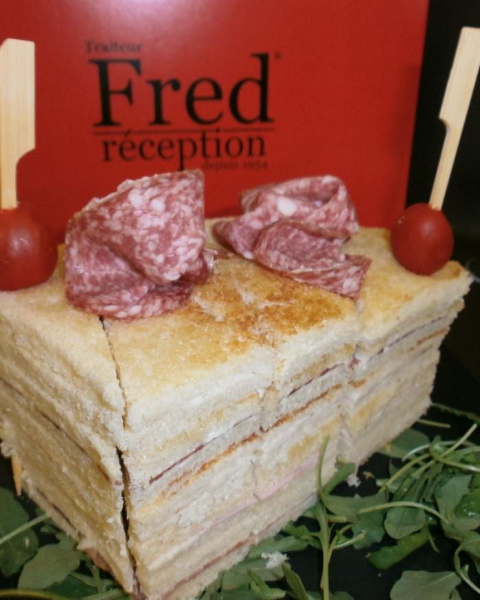 Cube toasté 30 morceaux fraîcheur poulet crudités